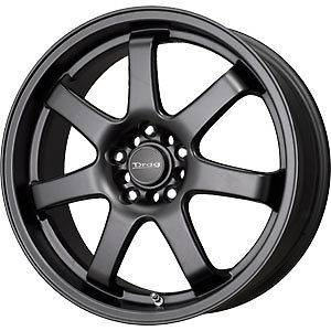 New 17X7.5 5x100/5x114.3 DRAG Black Wheels/Rims