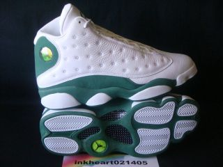 Jordan Retro 13 Ray Allen PE Sugar Boston Sz 10.5 White/Clover UK 9.5