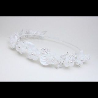 Bridal Wedding Flower Girl Communion Wreath Halo Tiara FG002