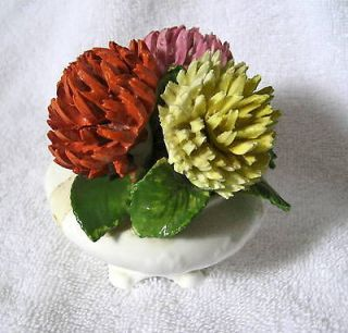 Radnor Bone China Flowers In Pot/Vase Chrysanthemums Mums/England