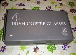NIB Set of four 8 ½ OZ Irish Coffee Glasses Cristallerie Zwiesel