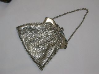 Vintage Whiting & Davis Silver Mesh Small Evening Purse
