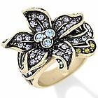 Heidi Daus Perennial Favorite Flower Ring Amthyst Color Sz 6