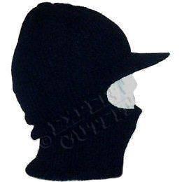 ce252434f06 ... SKI MASK Black WITH VISOR BEANIE HAT CAP FACE SHIELD NEW WHOLESALE ...