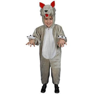 Plush Wolf Big Kids Costume