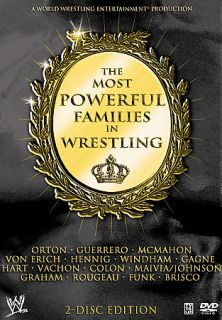 WWE   Most Powerful Families of Wrestling DVD, 2007, 2 Disc Set