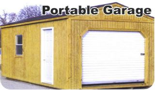 12x30 Portable Wood Storage Garage Building Barn Shed