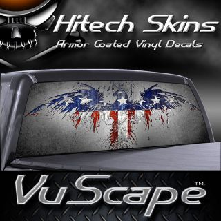 Vuscape Truck Rear Window Graphic  AMERICAN PATRIOTIC 2
