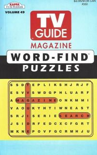 KAPPA Brand TV GUIDE MAGAZINE WORD FIND PUZZLES Book Volume 49 NEW