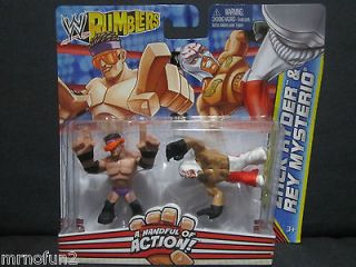 WWE rumblers ZACK RYDER and & REY MYSTERIO wrestling figures 2 pack