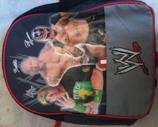 WWE WRESTLING BAG BACKPACK JOHNCENA BATISTA REY MYSTERIO BRAND NEW