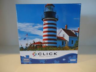 Mega Puzzles West Quoddy Head Lighthouse 1000 Jigsaw Puzzle by Steve