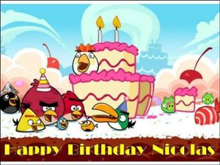 Angry Birds birthday Edible Image Cake Topper Personalized 1/4 sheet