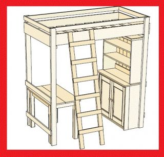 Build Your Own Loft Bed With Stairs | Simple Woodworking Project