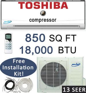 BTU Ductless Mini Split Air Conditioner Heat Pump  25 ft install Kit
