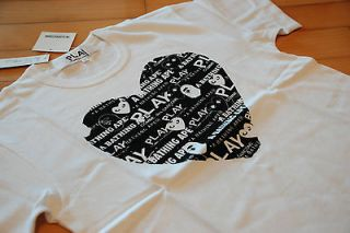 COMME des GARCONS PLAY SERIES x A BATHING APE ZI T020 MENS TEE S M L