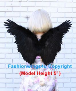 Juniors Petite Black Butterfly Style costume feather angel wings props