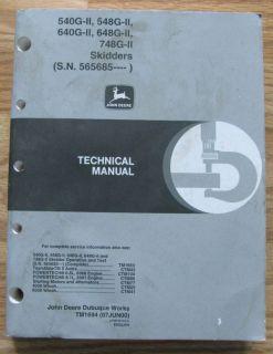 John Deere 748G II 648G II 548G II 640G II 540G II Skidder Technical