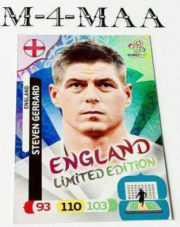 New Adrenalyn XL UEFA EURO 2012 STEVEN GERRARD Limited Edition PANINI