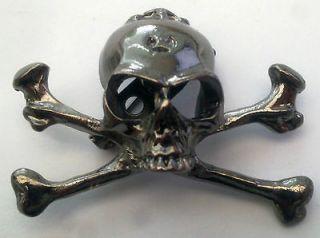 WOW* RED HOT NEW SKULL & CROSS BONES Metal Gothic Punk Bikers EMO
