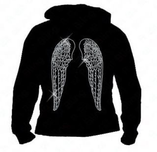 bling angel wings hoodie