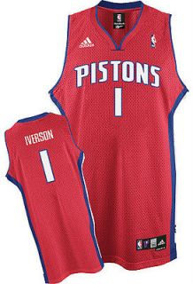Allen Iverson #1 Detroit Pistons Swingman Alternate Jersey by Adidas