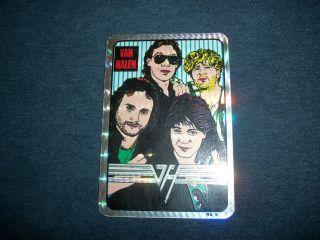 Van Halen Rare 1988 OU812 Foil Sticker Eddie Alex Sammy Hagar Michael