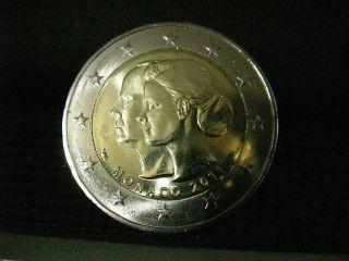 Euro comemorative coin Monaco 2011 Mariage Albert II and Charlene unc