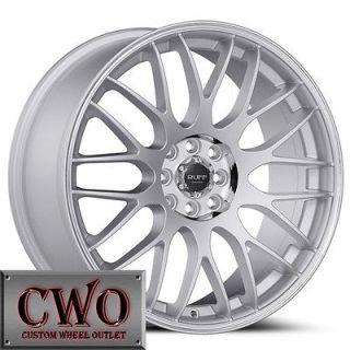 18 Silver Ruff R355 Wheels Rims 4x100/4x114.3 4 Lug Civic Integra