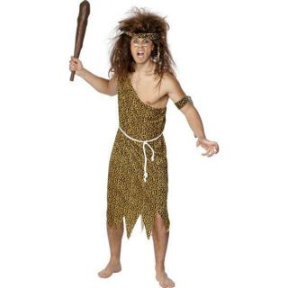 Adult Mens Caveman Leopard Print Smiffys Fancy Dress Costume