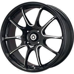 New 17X7 5x100 KONIG Illusion Black Wheels/Rims