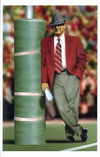 BEAR BRYANT ALABAMA CRIMSON TIDE FOOTBALL PRINT & COIN