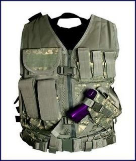 Tactical PVC Vest Military Special Forces Swat **DIGITAL CAMO ACU