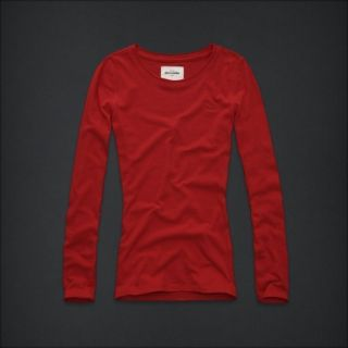 SIZE SMALL 7 8 ABERCROMBIE KIDS LONG SLEEVE SHIRT TOP RED ADDISON