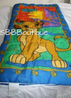 Lion King Simba Baby Cub Sleeping Bag Overnight Bed Zips Up Bedding