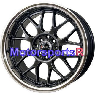 17 17x9 XXR 006 Chromium Black Polished Lip Rims wheels Deep Dish