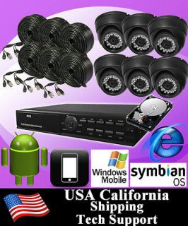 6CH Video Surveillance CCTV DVR Video Recorder Security Camera System