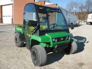 2007 JOHN DEERE GATOR TS 4X2 W/ MAUSER GLASS CAB W/ SIDE MIRRORS W