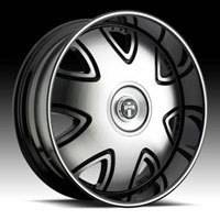 28 DUB 28x10 BANDITO Black & Machined Wheel & TIRE Package 28inch