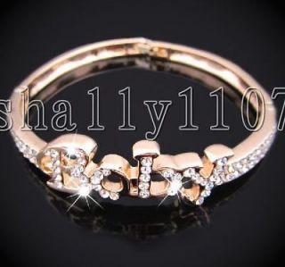 Swarovski Austrian Crystal 18K gold GP full crystal baby bracelet