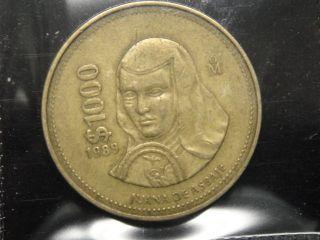 RARE1989 MEXICO 1000 PESOS COIN %%%%%X3