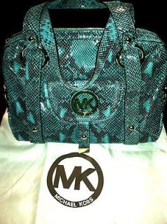 MICHAEL KORS FULTON PYTHON LEATHER SATCHEL Brand New With Tags