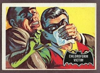1966 TOPPS BATMAN BLACK BAT # 6 CHLOROFORM VICTIM VG EX 191041