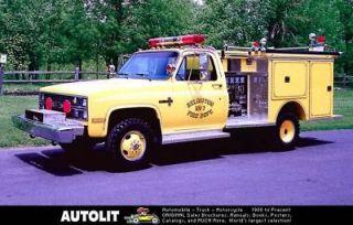 1980s Pierce Chevrolet Fire Truck Factory Photo