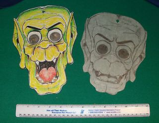 1970s LOTR Gollum Halloween Costume Original Art Collegeville HOBBIT