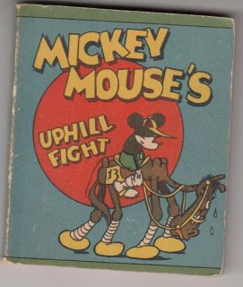 Walt Disneys MICKEY MOUSE Uphill Fight 1934 Whitman Mini Book 44