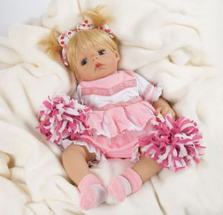 Future Cheerleader  Collectible Real Lifelike Baby Doll