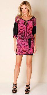 NEW HALE BOB fuchsia Original Sin silk dress tunic size XS $308