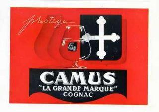 1946  Cognac CAMUS   French Ad, wine