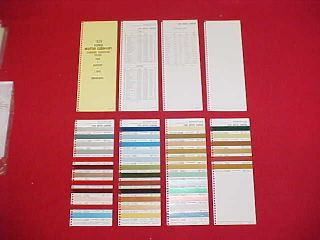 1976 FORD MUSTANG II LINCOLN MERCURY CAR COLOR PAINT CHIPS CHART